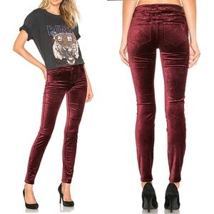 Paige Verdugo Ultra Skinny Velvet in Dark Currant